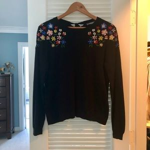 Oasis embroidered sweater sz L